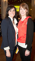 Tara Killilea and Emma Lally from Tuam  at  Choir Factor 2014 in the Radisson blu Hotel, Galway in aid of SCCUL Sanctuary at Kilcuan, Clarinbridge . Photo:Andrew Downes.