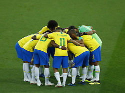June 27, 2018 - Moscow, Russia - Group E Serbia v Brazil - FIFA World Cup Russia 2018.Brazil before the match at Spartak Stadium in Moscow, Russia on June 27, 2018. (Credit Image: © Matteo Ciambelli/NurPhoto via ZUMA Press)