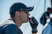 Emirates Team New Zealand trimmer Blair Tuke. Day two of the Extreme Sailing Series at Nice. 3/10/2014