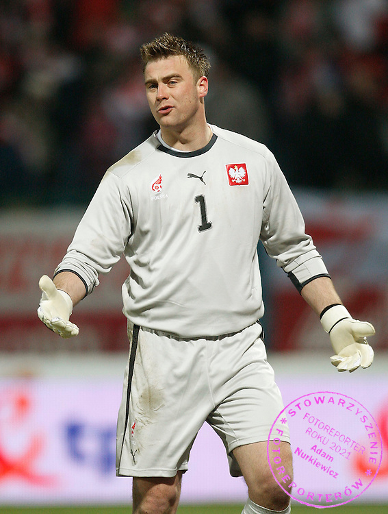 KRAKOW 26/03/2008.INTERNATIONAL FRIENDLY.POLAND v USA.GOALKEEPER ARTUR BORUC OF POLAND ..FOT. PIOTR HAWALEJ / WROFOTO