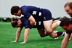 Harry Thacker and George Kloska in action as Bristol Bears start to use their new almost completed Training centre - Rogan/JMP - 08/07/2020 - RUGBY UNION - Beggar Bush Lane - Bristol, England.