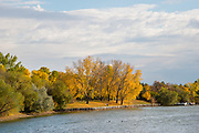 Scenes and details of fall foliage and autiumn colors in Wascana Centre, Regina, Saskatchewan<br />