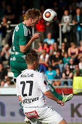 31.05.2015, Stadion Wolfsberg, Wolfsberg, AUT, 1. FBL, RZ Pellets WAC vs SK Rapid Wien, 35. Runde, im Bild v.l. Robert Beric (SK Rapid Wien) und Daniel Drescher (RZ Pellets WAC) // during the Austrian Football Bundesliga 35th Round match between RZ Pellets WAC and SK Rapid Vienna at the Stadium Wolfsberg in Wolfsberg Austria on 2015/05/31, EXPA Pictures © 2015, PhotoCredit: EXPA/ Wolfgang Jannach