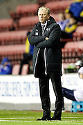 Derby County Manager Steve McClaren during the EFL Sky Bet Championship match between Wigan Athletic and Derby County at the DW Stadium, Wigan, England on 3 December 2016. Photo by Craig Galloway.