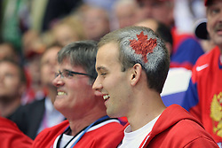 12.05.2011, Orange Arena, Bratislava, SVK, IIHF 2011 World Championship, Canada vs Russia, im Bild TEAM CANADA'S FAN. EXPA Pictures © 2011, PhotoCredit: EXPA/ EXPA/ Newspix/ .Tadeusz Bacal +++++ ATTENTION - FOR AUSTRIA/(AUT), SLOVENIA/(SLO), SERBIA/(SRB), CROATIA/(CRO), SWISS/(SUI) and SWEDEN/(SWE) CLIENT ONLY +++++