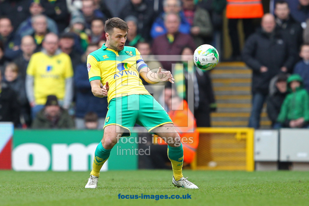 Russell Martin of Norwich in action during the Sky Bet Championship match at Carrow Road, Norwich<br /> Picture by Paul Chesterton/Focus Images Ltd +44 7904 640267<br /> 21/03/2015