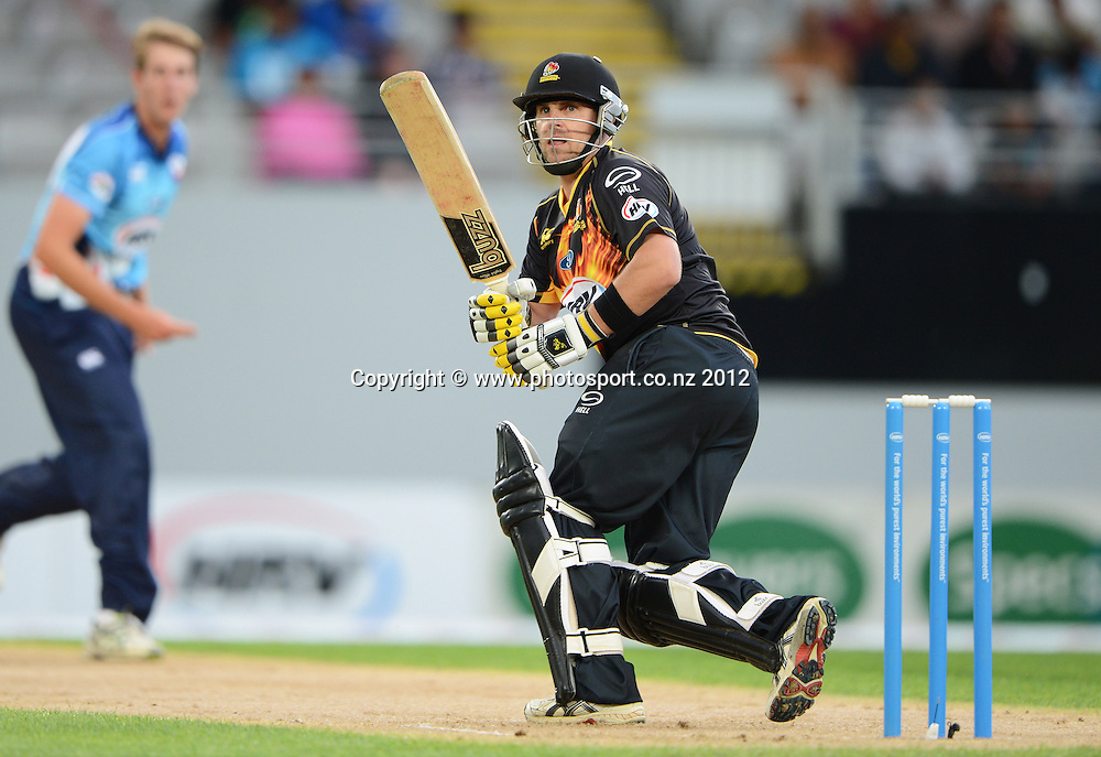 Michael Papps during the HRV Cup Twenty20 Cricket match between Auckland Aces and Wellington Firebirds at Eden Park on Friday 28 December 2012. Photo: Andrew Cornaga/Photosport.co.nz