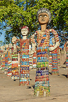 Inde, Punjab et Haryana, Chandigarh, le jardin Fantasy de Nek Chand // Nek Chand's Fanatasy Garden, Chandigarh, Haryana and Punjab, India