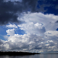 South America, Peru, Amazon. Amazon storm clouds.