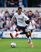 Thomas Ince on the ball during the Sky Bet Championship match between Millwall and Derby County at The Den, London, England on 25 April 2015. Photo by David Charbit.