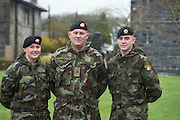 Army Family Chloe ,  Dad Leo and Wayne Foy from Kildare. Chloe and Wayne  are heading to the Lebanon for 6 Months pictured after a Ministerial Review of Lebanon Bound 47th Infantry Group in Renmore Barracks, Galway. Photo:Andrew Downes