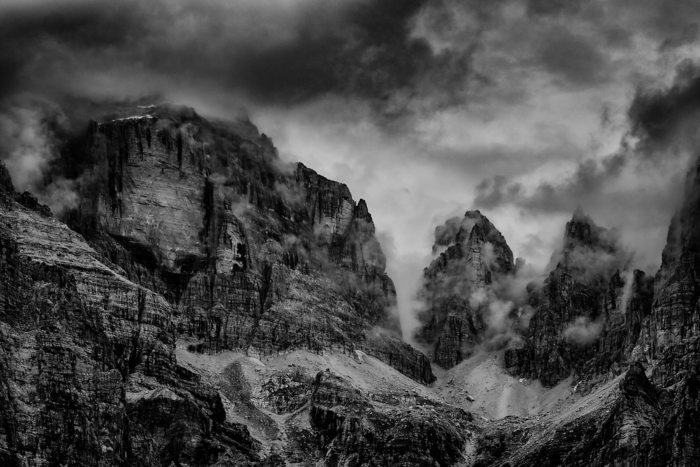 Cloud topped, Brenta- Croz Dell'Altissimo, Italy