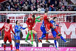 23.02.2019, Allianz Arena, Muenchen, GER, 1. FBL, FC Bayern Muenchen vs Hertha BSC, 23. Runde, im Bild TOR zum 1:0 Javi Javier Martinez FC Bayern M&uuml;nchen trifft per Kopf // during the German Bundesliga 23th round match between FC Bayern Muenchen and Hertha BSC at the Allianz Arena in Muenchen, Germany on 2019/02/23. EXPA Pictures &copy; 2019, PhotoCredit: EXPA/ Eibner-Pressefoto/ Michael Weber<br /> <br /> *****ATTENTION - OUT of GER*****