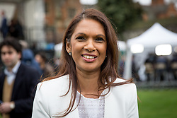 © Licensed to London News Pictures. 29/03/2017. London, UK. Gina Miller speaks to media on College Green. British Prime Minister Theresa May has signed a letter to trigger Article 50 today. Photo credit : Tom Nicholson/LNP