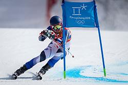 PYEONGCHANG-GUN, SOUTH KOREA - FEBRUARY 18: Samu Torsti of Finland competes during the Alpine Skiing Men's Giant Slalom at Yongpyong Alpine Centre on February 18, 2018 in Pyeongchang-gun, South Korea.Photo by Ronald Hoogendoorn / Sportida