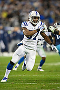 NASHVILLE, TN - DECEMBER 30:  Kemoko Turay #57 of the Indianapolis Colts rushes the quarterback during a game against the Tennessee Titans at Nissan Stadium on December 30, 2018 in Nashville, Tennessee.  The Colts defeated the Titans 33-17.   (Photo by Wesley Hitt/Getty Images) *** Local Caption *** Kemoko Turay