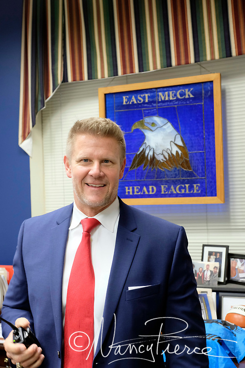 Learning Community Principal of the Year at East Mecklenburg High School Rick Parker. He is CMS Prinicpal of the Year
