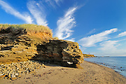 Cliffs along the Northumberland Strait<br /> Cap-Lumiere<br /> New Brunswick<br /> Canada