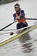 Poznan, POLAND,  NEDL LM1X, Jaap SCHOUTEN, moves away from the start, in his heat, at the 2008 FISA World Cup. Rowing Regatta. Malta Rowing Course on Friday, 20/06/2008. [Mandatory Credit:  Peter SPURRIER / Intersport Images] Rowing Course:Malta Rowing Course, Poznan, POLAND