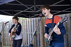 RHOSYMEDRE, WALES - Sunday, May 5, 2019: A band plays before the FAW JD Welsh Cup Final at The Rock. (Pic by David Rawcliffe/Propaganda)