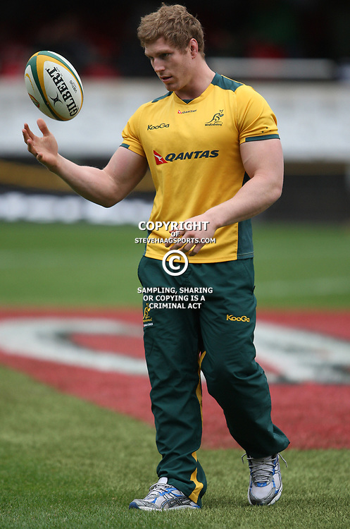 DURBAN, SOUTH AFRICA - AUGUST 13,  David Pocock during the Castle Lager Tri Nations match between South Africa and Australia at Mr Price Kings Park Stadium on August 13, 2011 in Durban, South Africa<br /> Photo by Steve Haag / Gallo Images