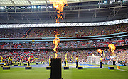 Entertainment before the game during the The FA Cup match between Arsenal and Aston Villa at Wembley Stadium, London, England on 30 May 2015. Photo by Phil Duncan.