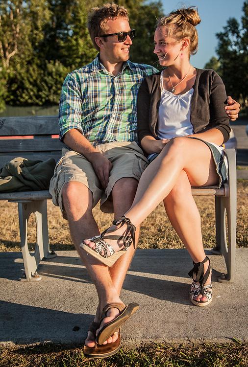 Mitchel and Emily Veenstra on the Delaney Park Strip, Anchorage  ruger_v@hotmail.com