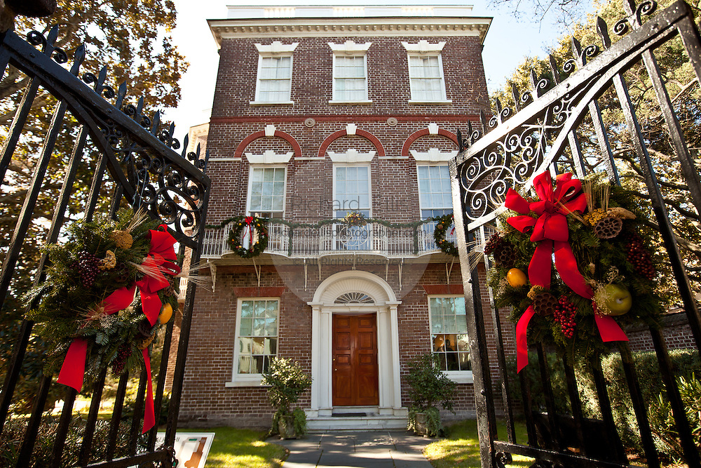 Nathaniel Russell House decorated for Christmas in Charleston, SC ...