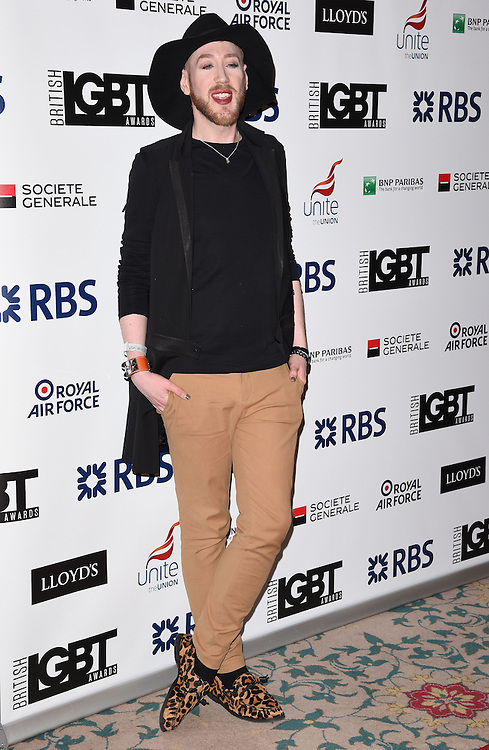Lewis Duncan Weedon attends The British LGBT Awards at The Landmark Hotel, London on Friday 24 April 2015