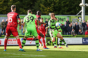 Forest Green Rovers Christian Doidge(9) with the ball during the Vanarama National League match between Forest Green Rovers and Barrow at the New Lawn, Forest Green, United Kingdom on 1 October 2016. Photo by Shane Healey.