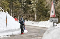 22.03.2018, Pichl-Preunegg bei Schladming, AUT, Red Bull Der lange Weg, Überquerung Alpenhauptkamm, längste Skitour der Welt, im Bild David Wallmann (AUT), vorne, und Bernhard Hug (SUI) // during the Red Bull Der lange Weg, crossing of the main ridge of the Alps, longest ski tour of the world, in Pichl-Preunegg near Schladming, Austria on 2018/03/22. EXPA Pictures © 2018, PhotoCredit: EXPA/ Martin Huber