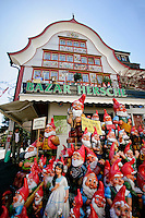 The Bazar Hersche (House Bazaar) and gnomes, Appenzell, Switzerland.