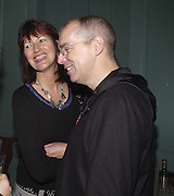 Janet Street-Porter and Neil Tennant, Memphis, new work by Tracey Emin, Counter Gallery and afterwards at a Georgian house in Fournier St. Spitafields, 19 November 2003.  © Copyright Photograph by Dafydd Jones 66 Stockwell Park Rd. London SW9 0DA Tel 020 7733 0108 www.dafjones.com