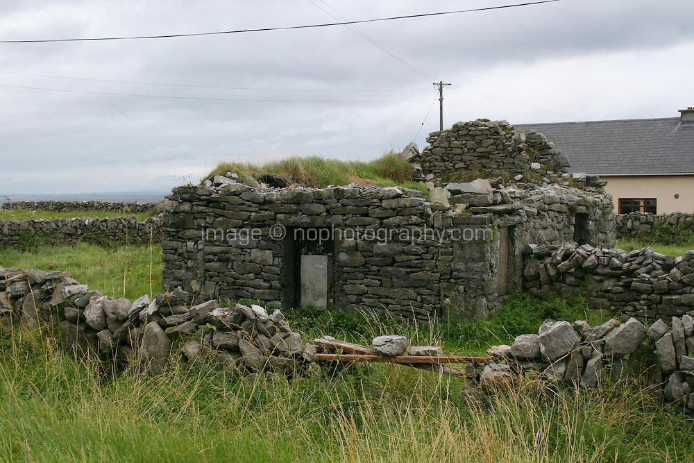 Ruin on Inis Oirr the Aran Islands Galway Ireland