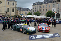 Duncan Cameron (GBR) / Matthew Griffin (IRL) / Aaron Scott (GBR)  #55 and Francois Perrodo (FRA) / Emmanuel Collard (FRA) / Rui Aguas (PRT) #83 AF Corse Ferrari F458 Italia,  during the Le Mans 24 Hr June 2016 at Circuit de la Sarthe, Le Mans, Pays de la Loire, France. June 13 2016. World Copyright Peter Taylor/PSP.