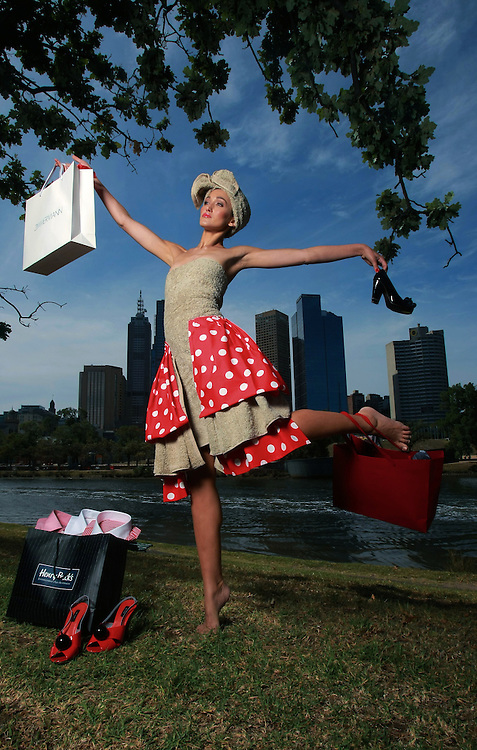 Model wearing a towel . Towels, shoes, men's shirts . . . model Silvana shows off some of the common post-Christmas retail pick-me-ups...Pic By Craig Sillitoe.09/01/2009 SPECIAL 000 melbourne photographers, commercial photographers, industrial photographers, corporate photographer, architectural photographers, This photograph can be used for non commercial uses with attribution. Credit: Craig Sillitoe Photography / http://www.csillitoe.com<br />