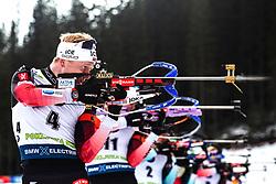 Johannes Thingnes Boe (NOR) during the Mass Start Men 15 km at day 4 of IBU Biathlon World Cup 2019/20 Pokljuka, on January 23, 2020 in Rudno polje, Pokljuka, Pokljuka, Slovenia. Photo by Peter Podobnik / Sportida