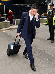 Manchester City's Samir Nasri arrives at Manchester Airport to board the team flight to Barcelona ahead of the UEFA Champions League second leg match against Barcelona - Photo mandatory by-line: Matt McNulty/JMP - Mobile: 07966 386802 - 17/03/2015 - SPORT - Football - Manchester - Manchester Airport - Barcelona v Manchester City - UEFA Champions League