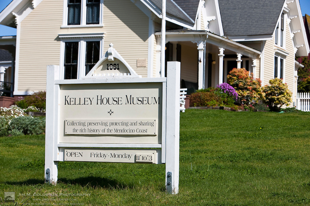 Kelly House Museum on Main Street, Mendocino, California