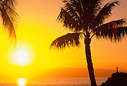 Sunset, Kaanapali, Maui, Hawaii, USA<br />