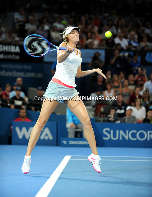 MARIA SHARAPOVA (RUS) - BRISBANE INTERNATIONAL TENNIS - MARIA SHARAPOVA V YAROSLAVA SHVEDOVA - PHOTO: SCOTT DAVIS - SMP IMAGES.COM - 06th January 2015 - Action from day 3 of the Brisbane International tennis tournament, being played at Pat Rafter Arena, Brisbane. This image is for Editorial Use Only. Any further use or individual sale of the image must be cleared by application to the Manager Sports Media Publishing (SMP Images). NO UN AUTHORISED COPYING : PHOTO SMP IMAGES.COM