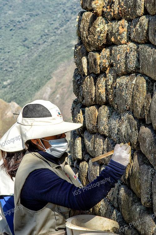 Restoration Work at Machu Picchu