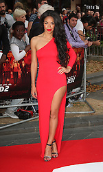 Red 2 UK film premiere.<br /> Sarah Jane Crawford during the premiere of the sequel to 2010's graphic novel adaption, about a group of retired assassins. <br /> Empire Leicester Square<br /> London, United Kingdom<br /> Monday, 22nd July 2013<br /> Picture by i-Images