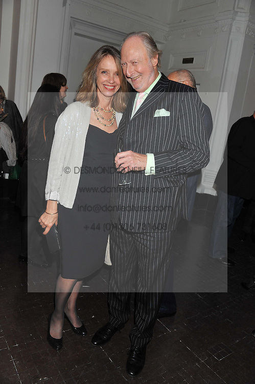 SABRINA GUINNESS and ED VICTOR at a party to celebrate the launch of the new gallery Pace at 6 Burlington Gardens, London on 3rd October 2012.