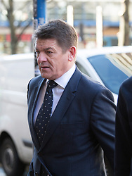 © Licensed to London News Pictures. 29/03/2016. Birmingham, UK. Footballer JONAS GUTIERREZ is suing his former club Newcastle United for alleged disability discrimination. Pictured, former Newcastle caretaker manager JOHN CARVER arriving at the tribunal. It is believed CARVER made the telephone call to dismiss GUTIERREZ. Newcastle deny any wrong doing in respect of the 32-year old, who was diagnosed with testicular cancer in 2013. Photo credit : Dave Warren/LNP