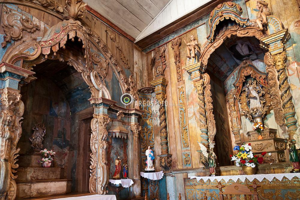 Altar da Igreja Matriz de Pilar de Goias, GO, Brasil. / Altar of the Church of Pilar de Goias, GO, Brazil.