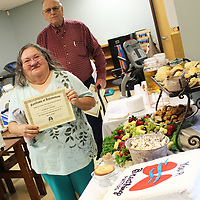 Barbara Wilson and Robert Sims recently completed pulmonary rehab at Monroe Regional Hospital and were celebrated with a reception.