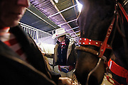 Italy, Voghera, Cowboys ranch: cowgirls preparing for thr initial show  .Cowboys show and contest.