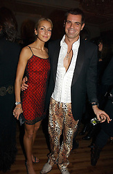 LADY ISABELLA HERVEY and MARCO PENSA at Andy & Patti Wong's annual Chinese New year Party, this year to celebrate the Year of The Pig, held at Madame Tussauds, Marylebone Road, London on 27th January 2007.<br /><br />NON EXCLUSIVE - WORLD RIGHTS
