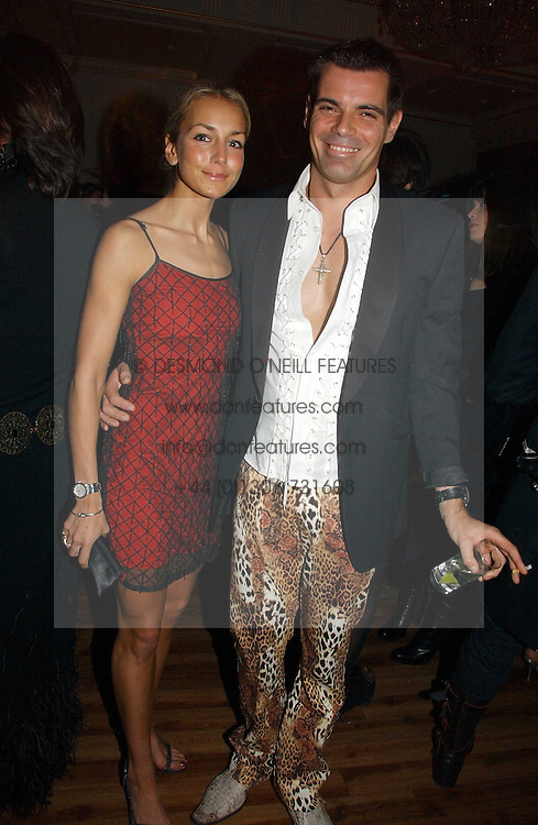 LADY ISABELLA HERVEY and MARCO PENSA at Andy &amp; Patti Wong's annual Chinese New year Party, this year to celebrate the Year of The Pig, held at Madame Tussauds, Marylebone Road, London on 27th January 2007.<br />